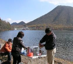 榛名湖 畔 デイキャンプ