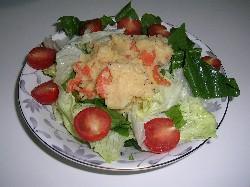 手作りマヨネーズで完成したポテトサラダ
